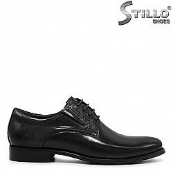 Мъжки кожени обувки с връзки - 36213