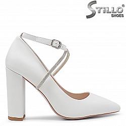 Сватбени обувки на дебел ток - 36268