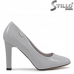 Сиви дамски обувки с висок ток – 36347
