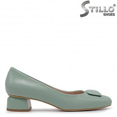 Зелени дамски обувки с нисък ток – 36361