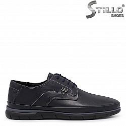 Сини мъжки обувки от естествена кожа – 36365
