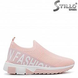 Розови стреч обувки - 36400