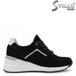 Спортни обувки на платформа естествена кожа – 36407