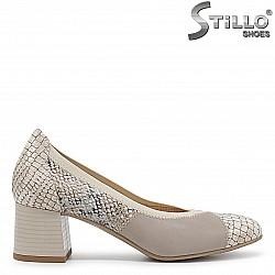 Дамски обувки естествена кожа със змийски принт – 36422
