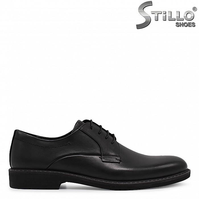 Елегантни мъжки обувки от естествена кожа - 36442