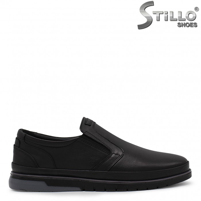 Мъжки обувки без връзки от естествена кожа – 36443