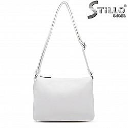 Бяла дамска чанта през рамо – 36486