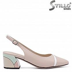 33, 34 Размер - Дамски обувки естествена кожа в бежово и бяло - 36491
