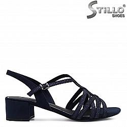 Сини сандали на нисък ток MARCO TOZZI - 36501