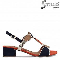 MARCO TOZZI - мултиколор дамски сандали на нисък ток - 36502
