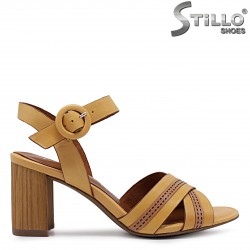Дамски сандали MARCO TOZZI  в цвят горчица - 36506