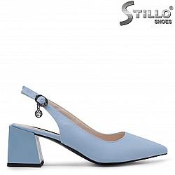 33, 34 Номера - Сини дамски обувки с отворена пета – 36527