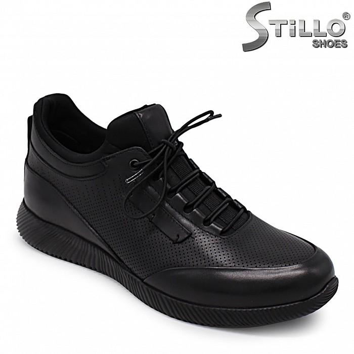 Спортно-елегантни мъжки обувки от естествена кожа – 36543