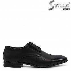 Стилни мъжки обувки от естествена кожа и лак – 36546