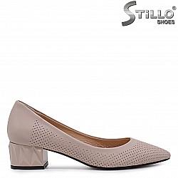 Дамски обувки естествена кожа в пепел от рози  - 36556