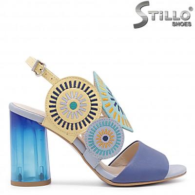 Модни дамски сандали от естествена кожа – 36610