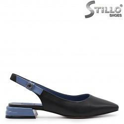 Летни обувки с отворена пета - 36713