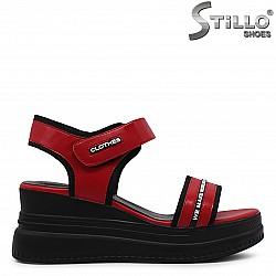 Спортни сандали на платформа с надписи – 36807