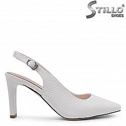 Отворени обувки на ток със змийска щампа – 36817