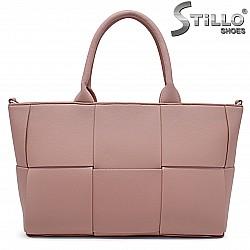 Розова дамска чанта на квадрати – 36842