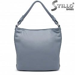 Синя дамска чанта тип торба – 36846