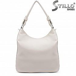 Дамска бяла чанта тип торба – 36849