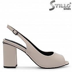 Елегантни сандали с камъче на тока – 36884