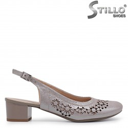 Летни обувки с перфорация от естествена кожа -  36907