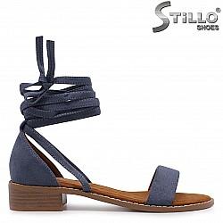 Дамски сандали с връзки около глезена – 36930