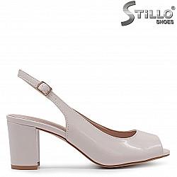 Лачени дамски сандали на ток – 36933