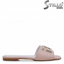 Розови чехли от естествена кожа – 36973