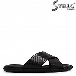 Мъжки чехли от естествена кожа – 36974