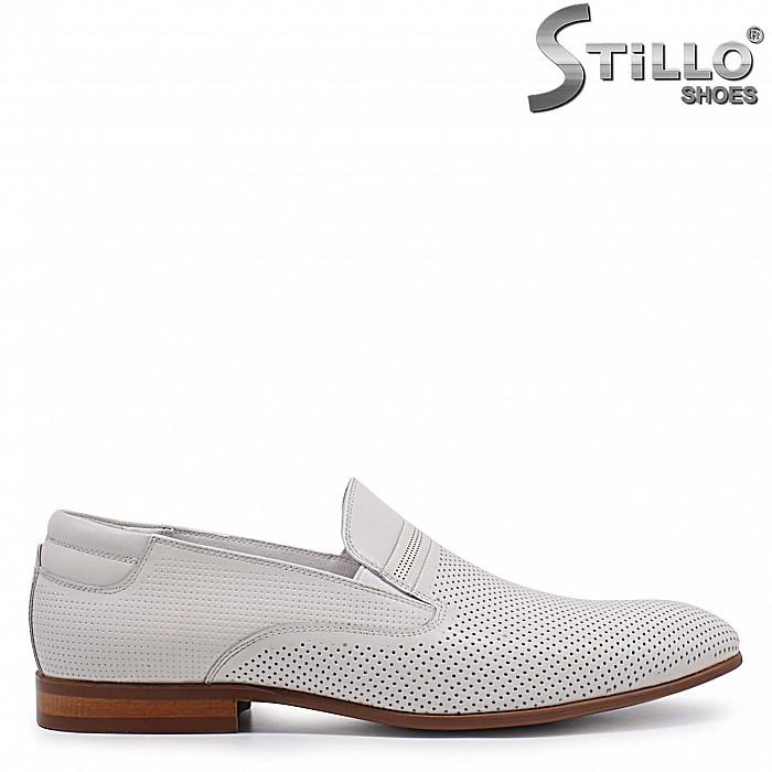 От 39 номер - Мъжки летни обувки от бежова естествена кожа – 37069