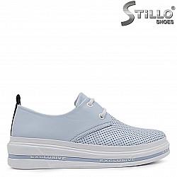 Спортни дамски обувки от естествена кожа – 36909