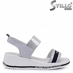 Брокатени сандали от естествена кожа – 37083