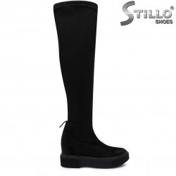 Дамски чизми от стреч велур – 37113