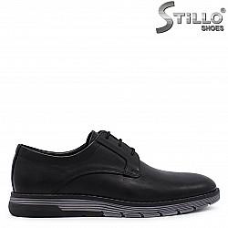 Мъжки обувки с връзки от естествена кожа – 37167