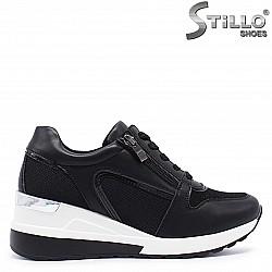Спортни обувки на платформа с връзки- 37184