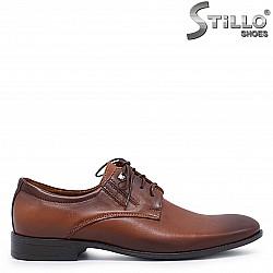 Мъжки елегантни обувки в кафяво – 37267