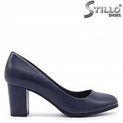 Сини дамски обувки на среден ток – 37294