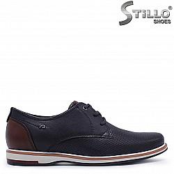 Мъжки сини спортно-елегантни обувки  – 37358