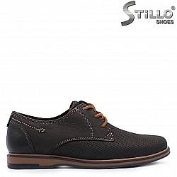 Кафяви мъжки обувки естествена кожа – 37360