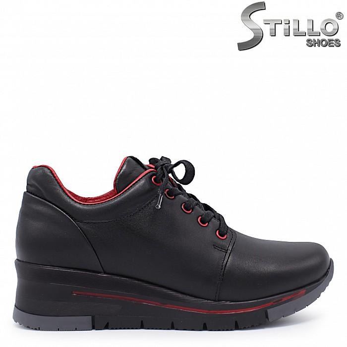 Спортни обувки на платформа естествена кожа – 37363