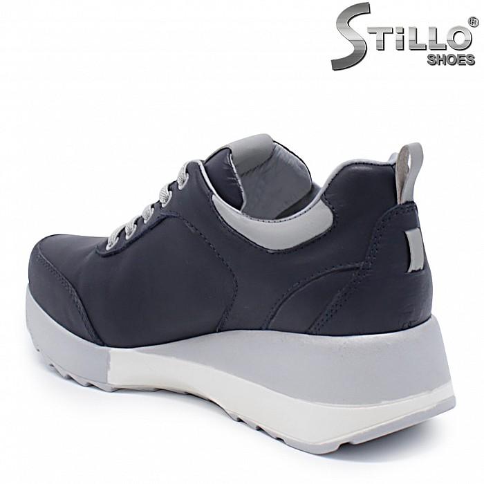 Спортни обувки на платформа естествена кожа – 37367