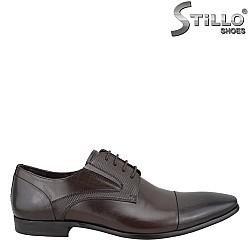 25303 - Кафяви мъжки обувки от естествена кожа