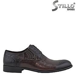 26146 - Официални мъжки обувки от кафява кожа