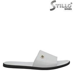 Мъжки чехли от естествена кожа - 26932