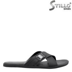Мъжки чехли от естествена кожа - 26933