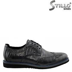 Мъжки обувки от естествена кожа с перфорация - 27402