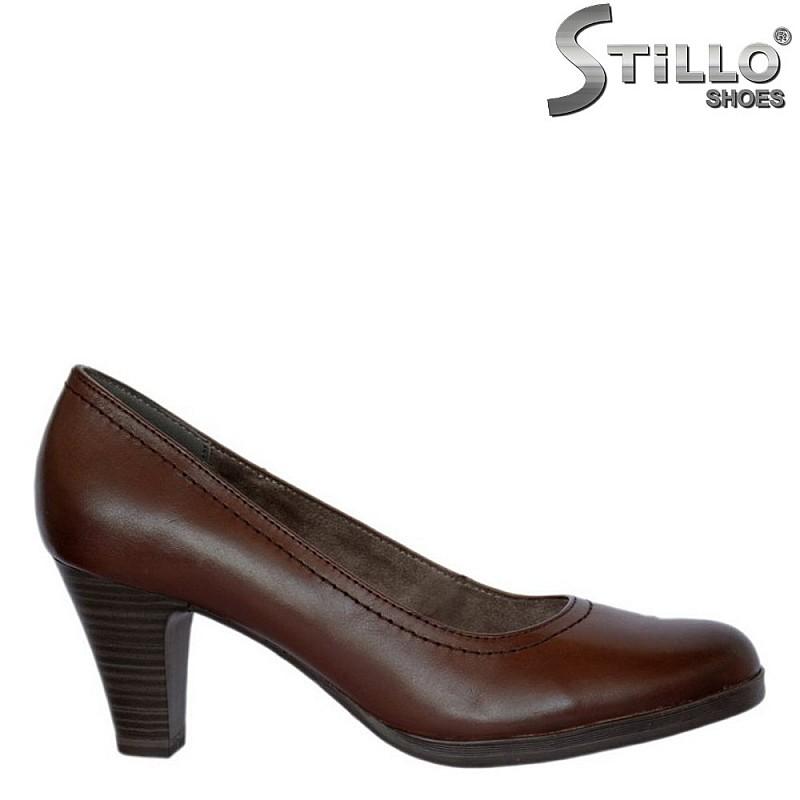 Дамски обувки Tamaris от кафява кожа  - 27159